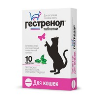 Таблетки Гестренол для кошек