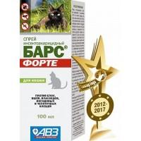 Барс Форте спрей инсектоакарицидный для кошек