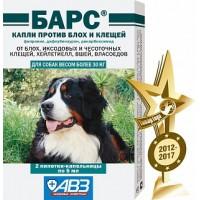 Барс капли для собак (более 30кг) от блох и клещей