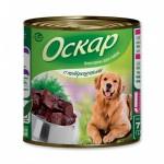 """Рассмотрим консервы для собак """"Оскар"""" С потрошками, 750гр>"""