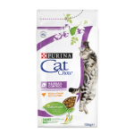 Cat Chow для кошек, вывод шерсти, 15кг