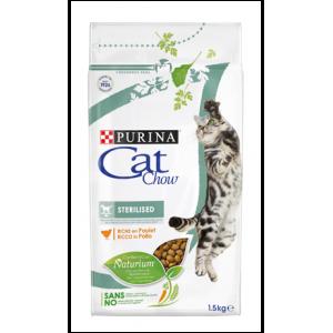 Корм Cat Chow Adult Sterilised для стерилизованных кошек и кастрированных котов, 1,5кг