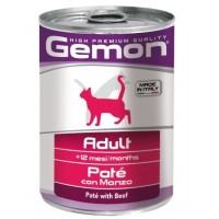 Консервы Gemon для кошек, паштет говядина, 400г