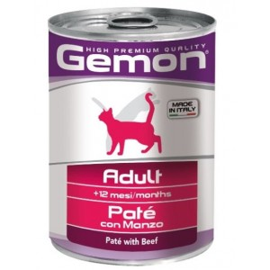 Gemon Cat консервы для кошек паштет говядина 400г
