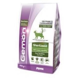 Gemon Cat корм для стерилизованных кошек с индейкой, 0,4кг