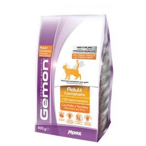Gemon Cat корм для взрослых кошек с курицей и индейкой 1.5 кг