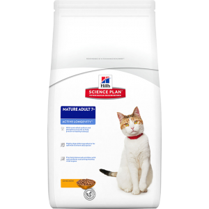 Корм Hill's SP  Feline Mature Adult 7+ Active Longevity для пожилых кошек, с курицей
