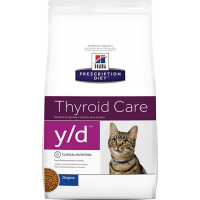 Hill's Y/D для кошек, при заболеваниях щитовидной железы, 1,5кг