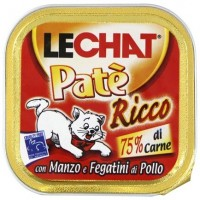 Консервы для кошек Lechat говядина и куриная печень 100г