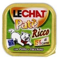 Консервы для кошек Lechat курица и индейка 100г