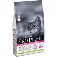 Pro Plan для кошек с чувствительным пищеварением, с ягнёнком, 10 кг