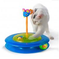 Игровой трек для кошек Petstages 3 этажа с двумя мячиками