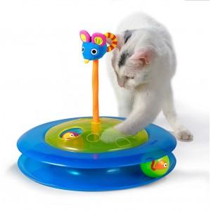 """Petstages игрушка для кошек """"Трек с двумя мячиками"""" диаметр основания 27 см"""