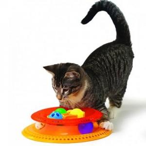 """Petstages игрушка для кошек """"Трек Kitty's choice"""" с 4-мя сменными мячиками диаметр основания 21 см"""