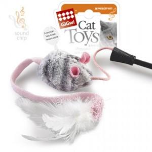GiGwi Игрушка для кошек Дразнилка с музыкальным чипом на стеке