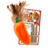 """Игрушка для кошек Kong """"Морковь"""" 15 см, плюш с тубом кошачьей мяты"""
