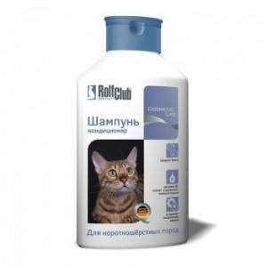 Шампунь RolfClub для короткошерстных кошек, 400мл