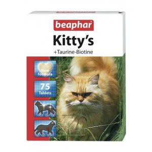 Витамины Beaphar Kitty's+Taurine+Biotine с биотином и таурином для кошек, 75табл