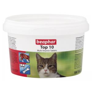Мультивитамины Beaphar Top10 для кошек, 180 таблеток
