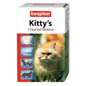 Витамины Beaphar Kitty's+Taurine+Biotine с биотином и таурином для кошек, 180табл