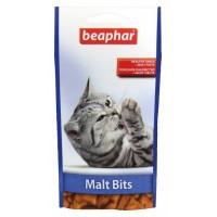 Подушечки Beaphar Malt Bits для выведения шерсти из желудка,35г