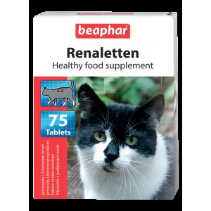 Витамины Beaphar Renaletten для кошек с почечными проблемами, 75табл