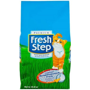 FRESH STEP Clay тройная защита, впитывающий 3,17 кг