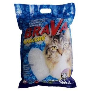 Наполнитель для кошачьего туалета BraVa силикагель Классик, 3,8л