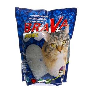 Наполнитель для кошачьего туалета BraVa силикагель Микс, 3,8л