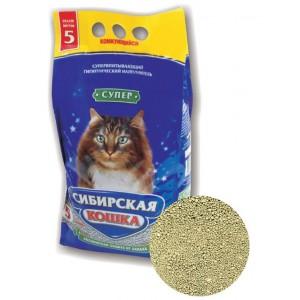 """Наполнитель """"Сибирская кошка"""" Супер комкующийся, 5л"""
