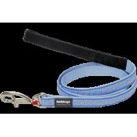 Поводок Red Dingo светло-голубой Daisy Chain 18мм*1,8м