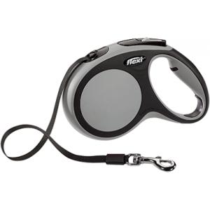 flexi рулетка New Comfort M (до 25 кг) лента 5 м черный/антрацит