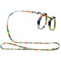 Шлейка и поводок Hunter Smart Stripes нейлон разноцветная
