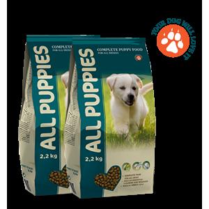 Сухой корм All Puppies для щенков, 2,2кг