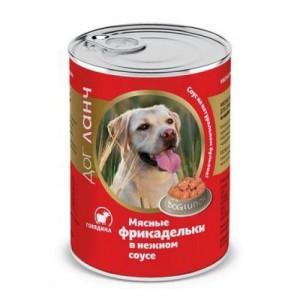 Консервы для собак Dog Lunch, мясные фрикадельки в нежном соусе со вкусом говядины