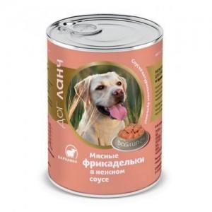 Консервы для собак Dog Lunch, мясные фрикадельки в нежном соусе со вкусом ягненка, 850г