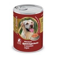 Консервы Dog Lunch Фрикадельки в нежном соусе, Мясное ассорти, 850г