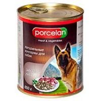 Porcelan для собак, Говядина+рубец 850 г