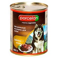 Porcelan для собак, Говядина+печень 850 г