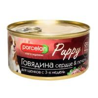 Porcelan 95% для щенков Говядина, сердце, печень 325г
