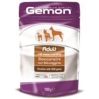 Пауч Gemon для собак, кусочки дичи 100г