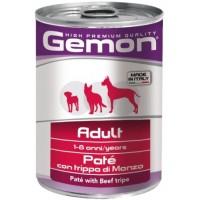 Консервы Gemon  собак пород,  паштет говяжий рубец 400г