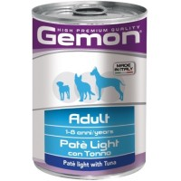 Консервы Gemon для собак, облегченный паштет тунец 400г