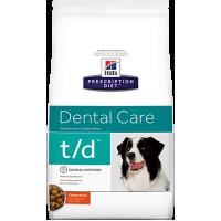 Hill's T/D для собак при заболеваниях полости рта, 3кг
