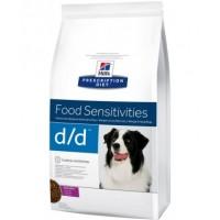 Hill's D/D для собак при пищевых аллергиях, утка и рис