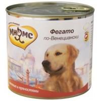 Консервы Мнямс для собак телячья печень с пряностями. 600 г