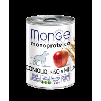 Monge Dog Monoproteico Fruits консервы для собак паштет из кролика с рисом и яблоками 400 г