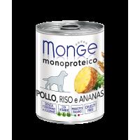 Monge Dog Monoproteico Fruits консервы для собак паштет из курицы с рисом и ананасами 400 г