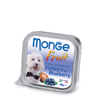 Консервы Monge Fruit для собак индейка с черникой 100 г