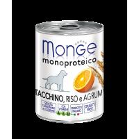 Monge Dog Monoproteico Fruits консервы для собак паштет из индейки с рисом и цитрусовыми 400 г